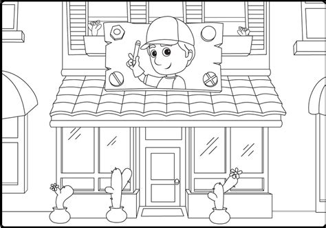 handy manny coloring pages handy manny workshop coloring pages