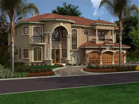two story florida house plans florida style house plans 5743 square foot home 2 story 5 bedroom and 5 bath 3