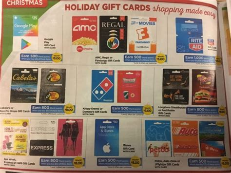 Rite Aid Gift Card List - rite aid save 20 on popular gift cards shopportunist