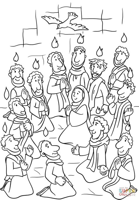 Holy Spirit Coloring Pages For Children by Holy Spirit Pentecost Coloring Pages Descent Of The Holy