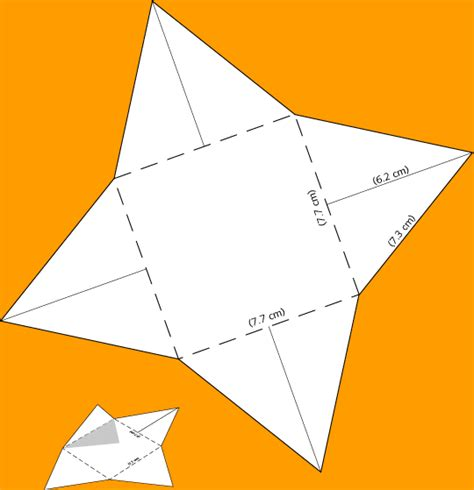 How To Make A Triangle Out Of Paper - make a scaled model of a pyramid paper diagram to print