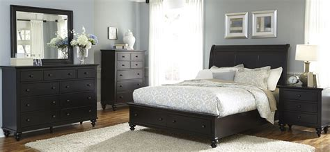 hamilton bedroom set hamilton iii black sleigh storage bedroom set from liberty
