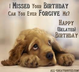 so sad i missed your birthday nicewishes