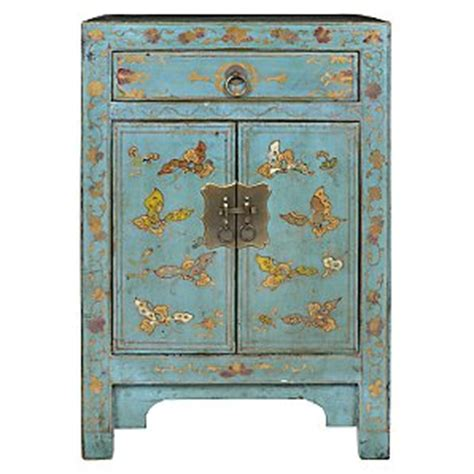 john lewis chinese collection shari painted cabinet blue