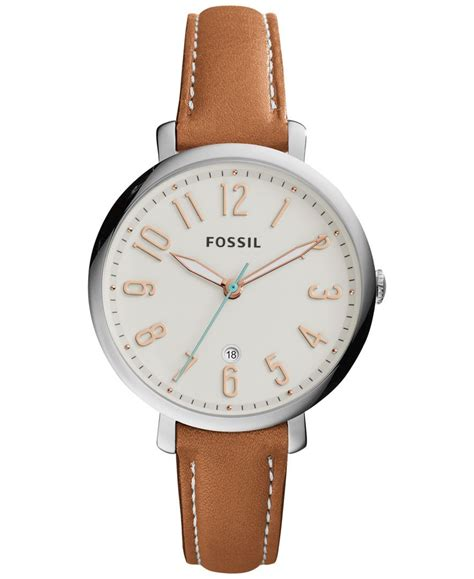 Fossil Second casually chic this leather from the jacqueline collection by fossil features a soft