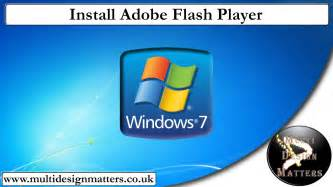 Install Adobe Flash how to install adobe flash player on windows 7 youtube