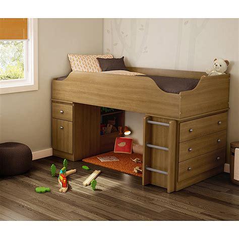 South Shore Bunk Bed South Shore Treehouse Loft Bed Harvest Maple Walmart