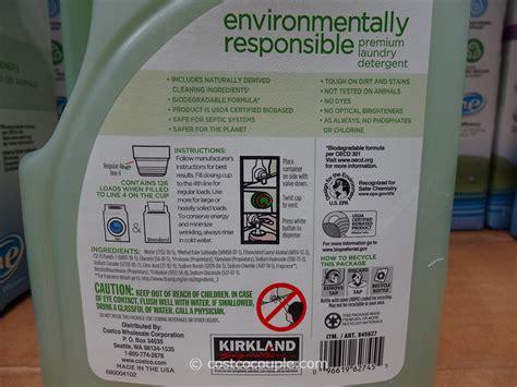 laundry costco kirkland signature eco friendly laundry detergent