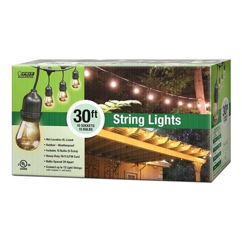 feit outdoor string lights 30 string lights feit electric