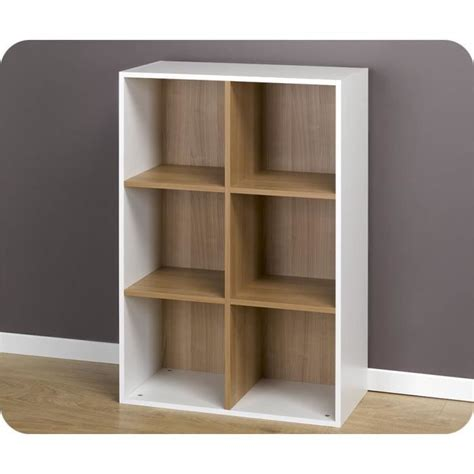 Etagere 8 Cases Blanches by Etag 232 Res 6 Cases De Rangement Blanches Modulables Achat