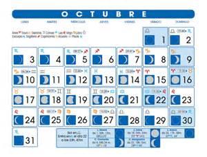 Calendario Octubre 2007 Calendario Lunar Octubre De 2016