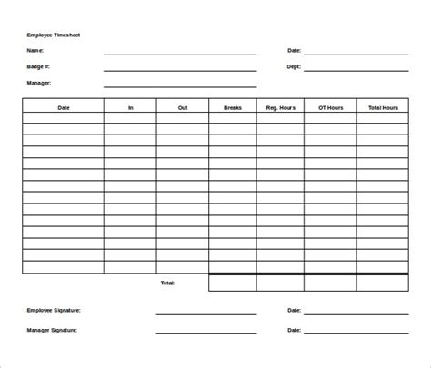 Time Card Template Word by Free Printable Time Card Template 4093 Searchexecutive