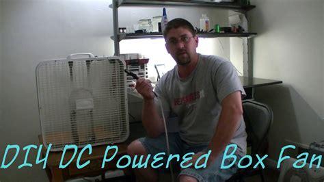 battery powered box fan diy dc powered box fan conversion youtube