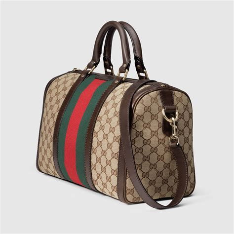New Gucci 247205 2 vintage web original gg boston bag gucci top handles