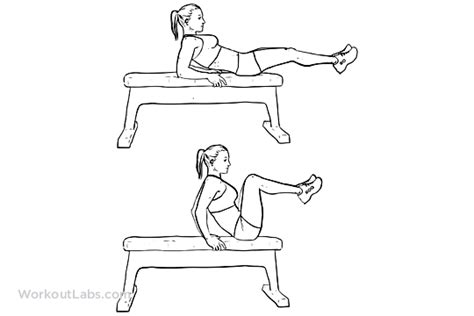 bench leg pull in seated bench leg pull ins flat bench knee ups workoutlabs