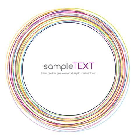circular layout circular frame vector free download