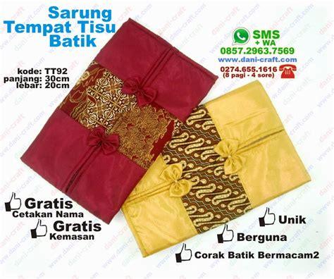 Tempat Tisu Batik 2 sarung tempat tisu batik satin souvenir pernikahan