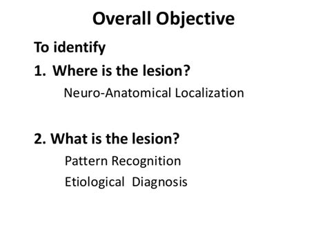 pattern recognition disorder approach to a case of motor and sensory disorders