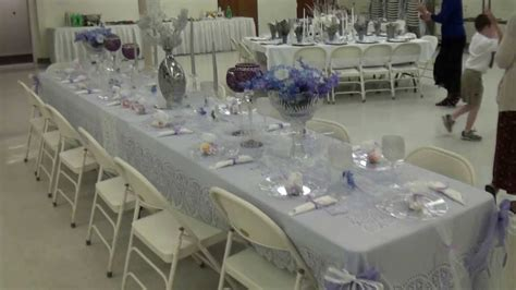 Beautiful Table Settings For The Th Anniversary Buffet