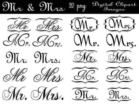 mr clipart instant mr mrs wedding clipart by