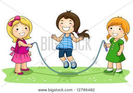 imagenes de niños jugando ula ula vector y foto ni 241 os jugando saltar la cuerda en bigstock