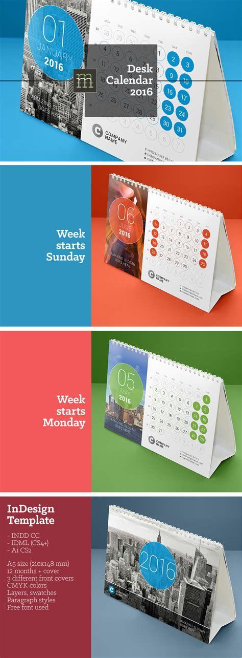 tutorial desain kalender meja free download kalender meja 2016 indesign template
