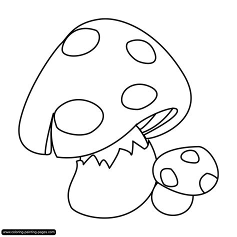 mushroom coloring pages free large images