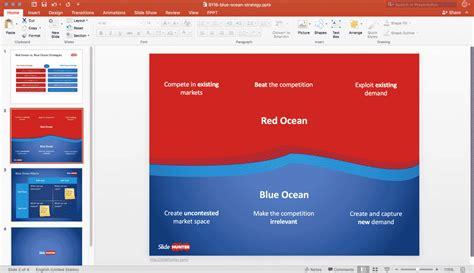Blue Ocean Strategy Powerpoint Templates Present Better Blue Strategy Powerpoint