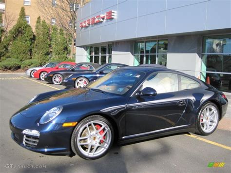 porsche midnight blue 2009 midnight blue metallic porsche 911 carrera 4s coupe