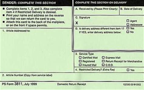 certified mail return receipt template return receipt mail services stony brook
