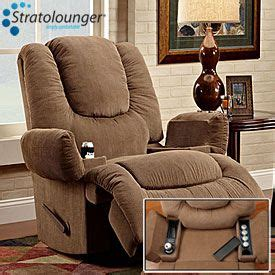 Recliner With Heat And Fridge by Stratolounger 174 Oversized Tailgater Bronson Rocker Recliner