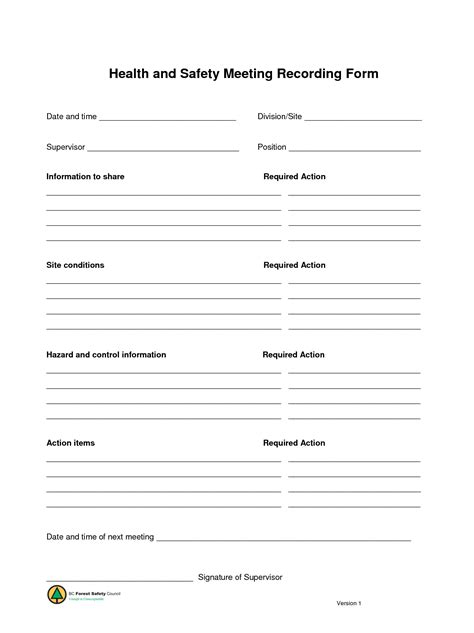 monthly safety meeting template search results for weekly safety schedule