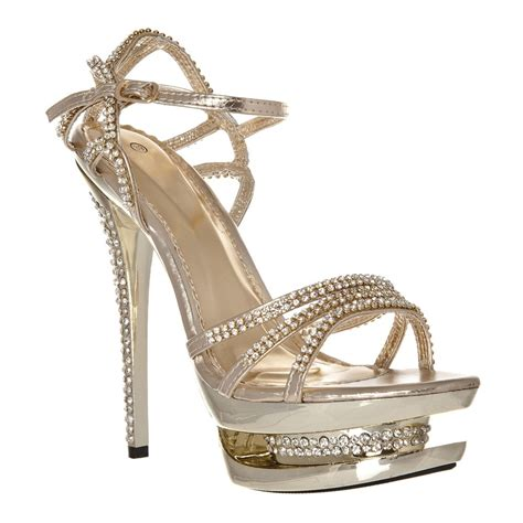 high heel sandals ankle diamante high heel sandals