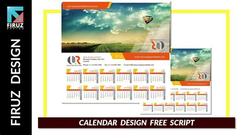 design video calendar design with illustrator free script youtube