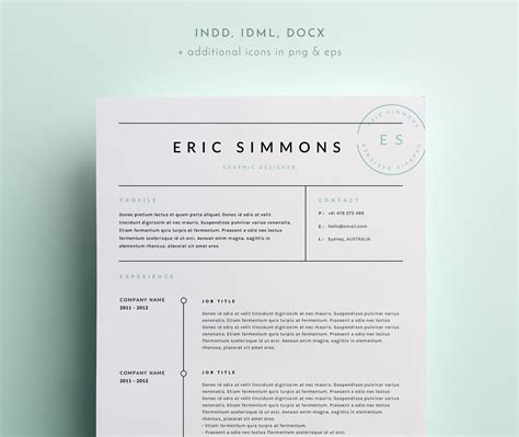 Indesign Resume by 3 Page Resume Template Indd Docx Resume Templates