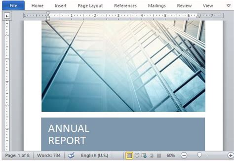 ind annual report template office report templates