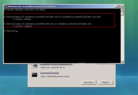 windows reset password utilman 2 methods to reset windows vista login password easy and safe