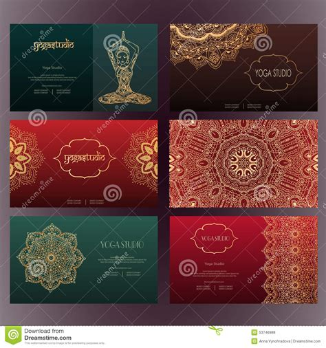 Free Mehndi Business Cards Template by Mandalas Business Card 4 Stock Vector Illustration