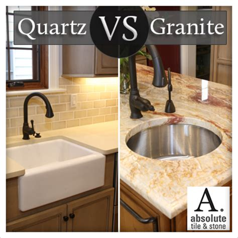 Granite Vs Quartz Countertop by Quartz Vs Granite Countertops Absolute