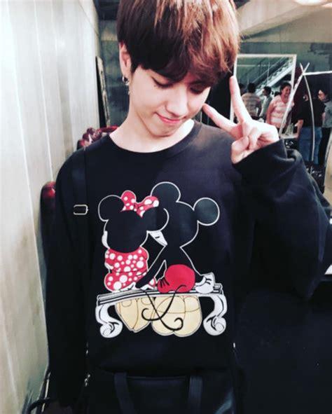 Mickey Katun Sweater Korea Fashion sweater clothes got7 mickey mouse minnie mouse kpop idols korean fashion yugyeom