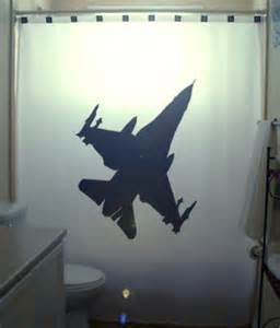 fighter jet f16 shower curtain airplane by
