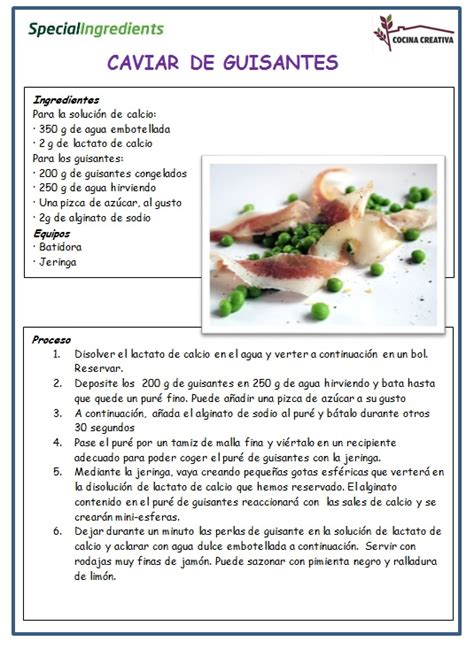 de recetas de cocina recetas cocina molecular