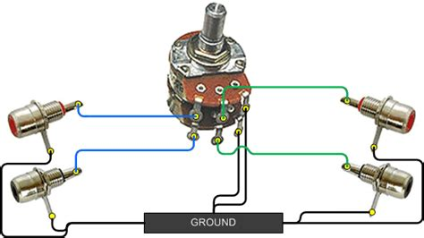 volume potentiometer wiring free
