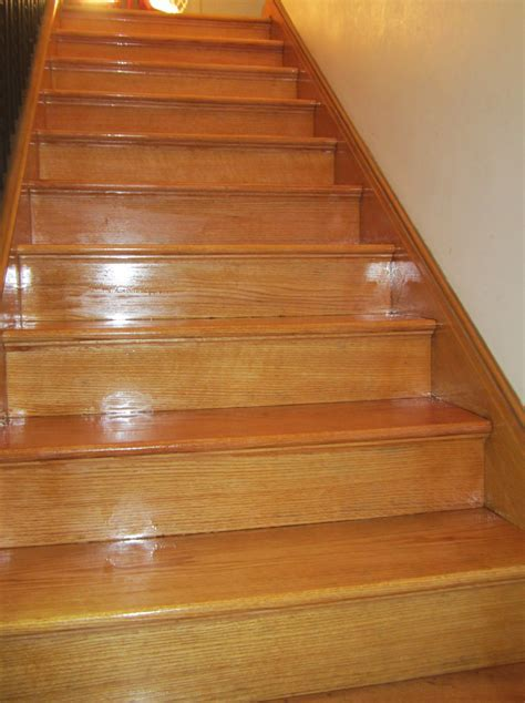 Refinished Staircase   New Prairie Construction