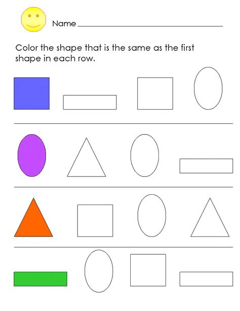 Free Printable Worksheets For Pre K by Pre K Shapes Worksheets To Print Loving Printable