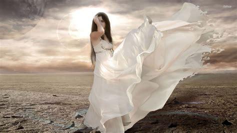 wallpaper girl dress girl with floating white dress wallpaper