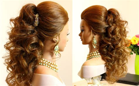 hair style esl prom bridal curly hairstyle for long hair tutorial