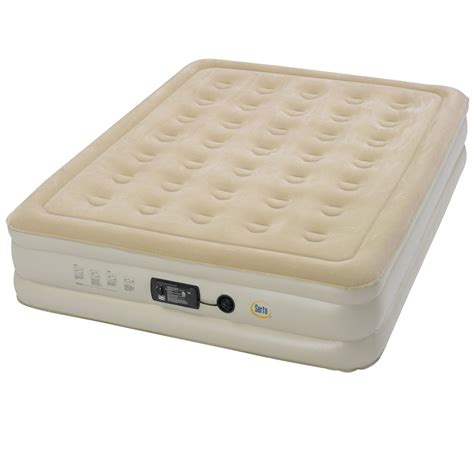 portable queen bed air mattress bed inflatable raised queen size portable indoor outdoor guest c