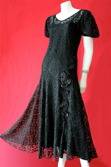 1930s lace dress and petticoat vintage clothing