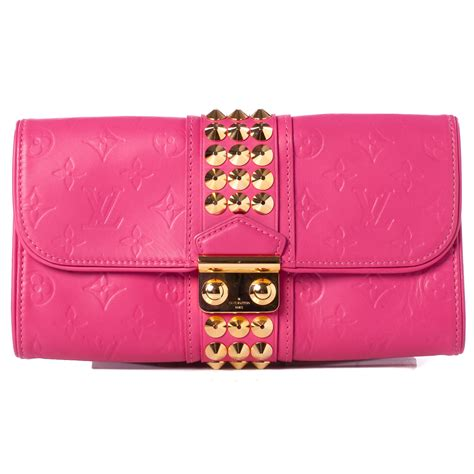 Louis Vuitton Leather Embossed With Clutch 9311 louis vuitton embossed leather pochette clutch fuchsia 38445